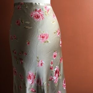 Banana Republic Skirts - BANANA REPUBLIC Golden Pink Floral Skirt 14